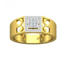 Natural Diamond Band for Men 0.33 CT / 6.30 gm Gold