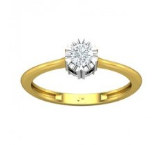 Natural Diamond Ring 0.25 CT / 2.10 gm Gold