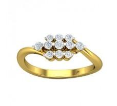 Natural Diamond Ring 0.30 CT / 2.90 gm Gold