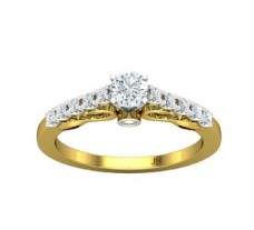 PreSet Natural Solitaire Diamond Ring 0.57 CT / 2.63 gm Gold