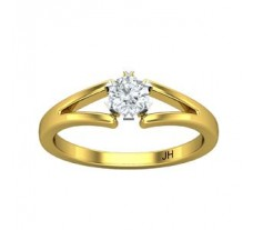 PreSet Natural Solitaire Diamond Ring 0.30 CT / 3.00 gm Gold