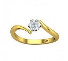 PreSet Natural Solitaire Diamond Ring 0.29 CT / 2.60 gm Gold