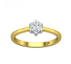 PreSet Natural Solitaire Diamond Ring 0.30 CT / 2.25 gm Gold
