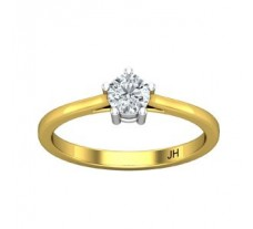 PreSet Natural Solitaire Diamond Ring 0.29 CT / 2.25 gm Gold