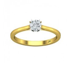 PreSet Natural Solitaire Ring 0.29 CT / 2.25 gm Gold