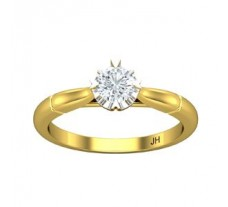 PreSet Natural Solitaire Diamond Ring 0.40 CT / 3.20 gm Gold