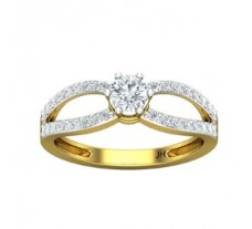 PreSet Natural Solitaire Diamond Ring 0.61 CT / 2.70 gm Gold