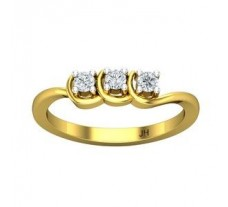 Natural Diamond Ring 0.19 CT / 2.50 gm Gold