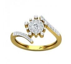 Natural Diamond Ring 0.42 CT / 2.80 gm Gold