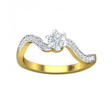 PreSet Natural Solitaire Diamond Ring 0.46 CT / 2.45 gm Gold