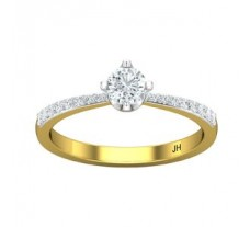 PreSet Natural Solitaire Diamond Ring 0.44 CT / 2.10 gm Gold