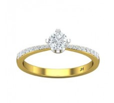 PreSet Natural Solitaire Diamond Ring 0.49 CT / 2.10 gm Gold
