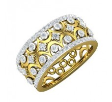 Natural Diamond Band 0.68 CT / 5.00 gm Gold