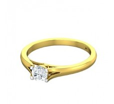PreSet Natural Solitaire Diamond Ring 0.30 CT / 2.30 gm Gold