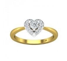Natural Diamond Ring 0.29 CT / 2.70 gm Gold