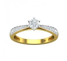 PreSet Natural Solitaire Diamond Ring 0.48 CT / 2.65 gm Gold