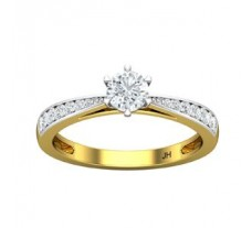 PreSet Natural Solitaire Diamond Ring 0.58 CT / 2.70 gm Gold