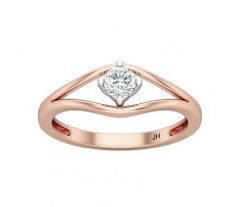 Natural Diamond Ring 0.25 CT / 2.40 gm Gold