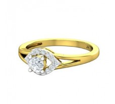 Natural Diamond Ring 0.39 CT / 2.75 gm Gold