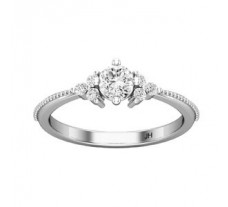 PreSet Natural Solitaire Diamond Ring 0.42 CT / 2.30 gm Gold