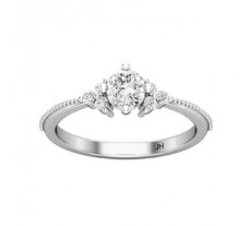 PreSet Natural Solitaire Diamond Ring 0.52 CT / 2.40 gm Gold