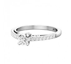 PreSet Natural Solitaire Diamond Ring 0.55 CT / 3.10 gm Gold