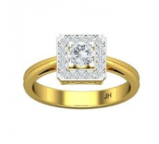 PreSet Natural Solitaire Diamond Ring 0.49 CT / 3.40 gm Gold