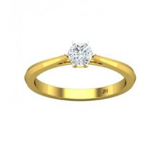 PreSet Natural Solitaire Diamond Ring 0.30 CT / 2.20 gm Gold