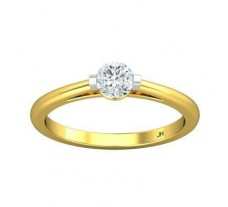 PreSet Natural Solitaire Diamond Ring 0.35 CT / 2.20 gm Gold