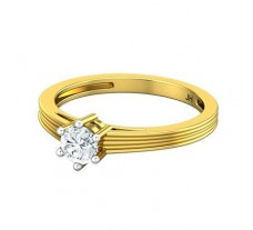 PreSet Natural Solitaire Diamond Ring 0.35 CT / 2.60 gm Gold