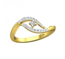 Natural Diamond Ring 0.20 CT / 2.70 gm Gold