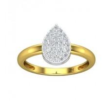 Natural Diamond Ring 0.35 CT / 2.75 gm Gold