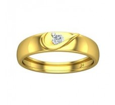 Natural Diamond Band for Men 0.15 CT / 4.10 gm Gold