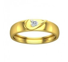 Natural Diamond Band for HER 0.10 CT / 2.60 gm Gold