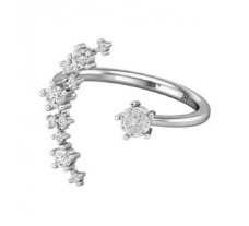Natural Diamond Ring 0.33 CT / 2.60 gm Gold