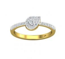 Natural Diamond Ring 0.33 CT / 2.40 gm Gold