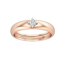 Natural Diamond Band for HER 0.09 CT / 2.50 gm Gold