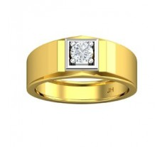 PreSet Natural Solitaire Diamond Ring for Men 0.40 CT / 7.40 gm Gold