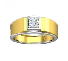PreSet Natural Solitaire Diamond Ring for Men 0.50 CT / 7.40 gm Gold