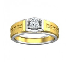 PreSet Natural Solitaire Diamond Ring for Men 0.30 CT / 7.90 gm Gold
