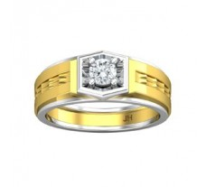 PreSet Natural Solitaire Diamond Ring for Men 0.40 CT / 8.80 gm Gold