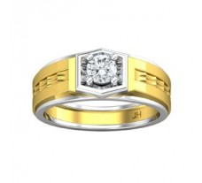 PreSet Natural Solitaire Diamond Ring for Men 0.50 CT / 8.80 gm Gold