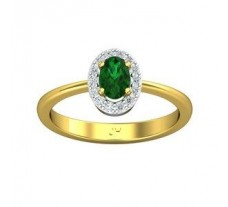 Natural Diamond & Gemstone Gold Ring
