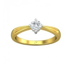 PreSet Natural Solitaire Diamond Ring 0.30 CT / 2.80 gm Gold