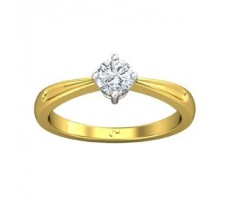 PreSet Solitaire Natural Diamond Ring 0.40 CT / 2.90 gm Gold