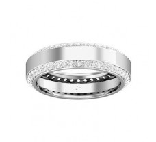 Natural Diamond Band for Men 1.32 CT / 6.00 gm Gold