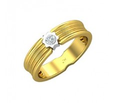 Natural Diamond Band for Men 0.15 CT / 5.40 gm Gold