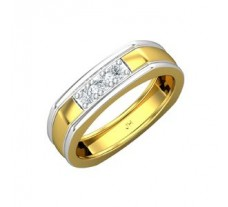 Natural Diamond Band for Men 0.30 CT / 7.30 gm Gold
