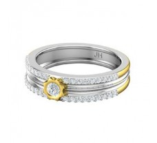 Natural Diamond Band for HER 0.38 CT / 3.80 gm Gold