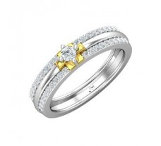 Natural Diamond Band for HER 0.38 CT / 3.50 gm Gold